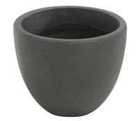 Dehner Polystone-Topf, rund, grau