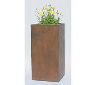 Dehner Polystone-Vase, säulenform, rost
