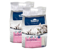 Dehner Premium Klumpend Ultra Babypuder-Duft, Katzenstreu, 2 x 12 kg