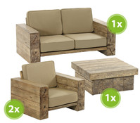 Dehner Premium Lounge-Set Brampton, 4-teilig