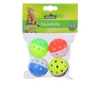 Dehner Rasselbälle, Katzenspielzeug, 4 Stück