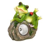Dehner Solarleuchte Frosch mit Marienkäfer