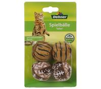 Dehner Spielbälle Safari, Katzenspielzeug, 4 Stück