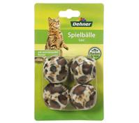 Dehner Spielball Leo, Katzenspielzeug, 4 Stück
