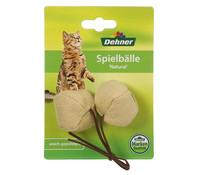 Dehner Spielball Natural, Katzenspielzeug, 2 Stück