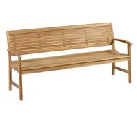 Dehner Teakbank Cullen, 4-Sitzer, 180 x 62 x 89 cm