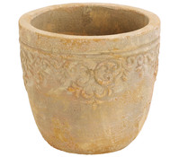 Dehner Terrakotta-Topf Lyah, rund, antik terrakotta