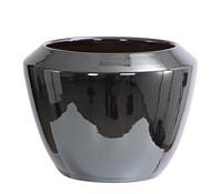 Dehner Übertopf aus Keramik, rund