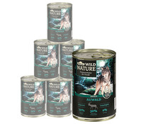 Dehner Wild Nature Auwald Adult, Nassfutter, 6 x 400g/800g