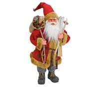 Dekofigur Nikolaus in rot, 60 cm