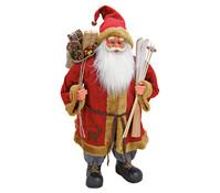 Dekofigur Nikolaus in rot, 81 cm