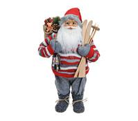 Dekofigur Nikolaus in rot / grau, 60 cm