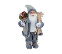 Dekofigur Nikolaus in weiß / grau, 46 cm