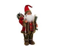 Dekofigur Nikolaus mit Skier, 61 cm