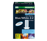 Dennerle Nano Marinus Blue/White 2:2, Kompakt-Leuchtstofflampe