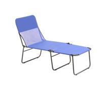 Dreibeinliegenbett 200 x 72 x 45 cm, blau
