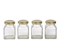 Einkochglas quadratisch, 200 ml, 4 Stk.