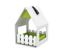 Emsa Landhaus Futterhaus, weiss-grün