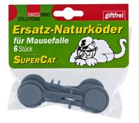 Ersatzköder für Mäusefalle Supercat, 6 Stk.