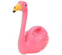 Esschert Kunststoff-Gießkanne Flamingo