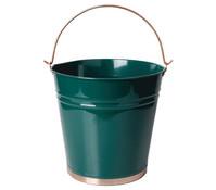 Esschert Metall-Eimer, Ø 28 cm, dunkelgrün