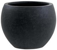 Esteras Polystone-Blumentopf Heerle, rund, schwarz