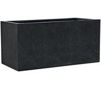 Esteras Polystone-Topf Buren, rechteckig, schwarz