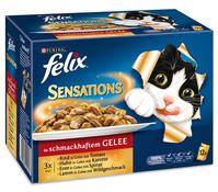 Felix Sensations mit Fleisch, Nassfutter, 12x/24x100g