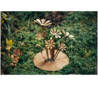 Ferrum Gänseblümchen auf Platte, 24 cm, rost