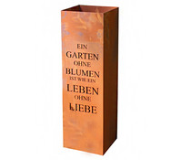 Ferrum Metall-Säule Gedicht Garten, bepflanzbar