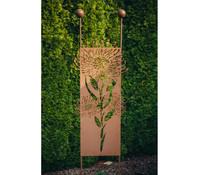 Ferrum Stecker Pusteblume, 54 x 208 cm, rost