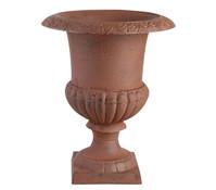 Französische Vase aus Gusseisen, rostfarben