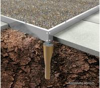 Fundamentrahmen für Gewächshaus Solargrow 450