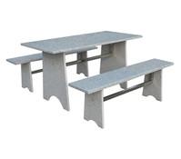 Gartenmöbel-Set aus Granit, 3-teilig