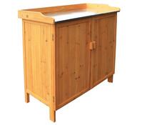 Gartentisch mit Unterschrank, 98 x 48 x 95 cm