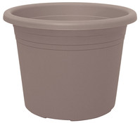 Geli Kunststoff-Topf Cylindro, rund, taupe