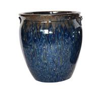 Glasierter Keramik-Topf, rund
