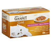 Gourmet Gold Feine Komposition, Nassfutter, 4x85g