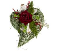 Grabgesteck künstlich, Herz rot