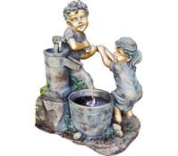 Granimex Polystone-Gartenbrunnen Ben & Marie, 50 x 40 x 70 cm