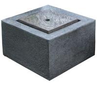 Granimex Polystone-Gartenbrunnen Wasserspiel Quader, 50 x 50 x 35 cm
