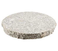 Granit Bodenplatte, grau/granit, Ø 35 cm