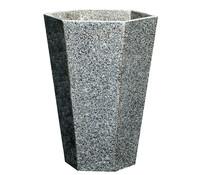 Granit-Pflanztopf Hexagon, grau