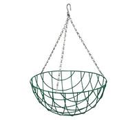 Hängeampel Basket, Ø 35 cm, rund, grün mit Kokoseinlage