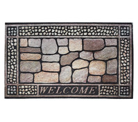 Hamat Fußmatte Eco Master Welcome, schwarz/grau, 75 x 45 cm