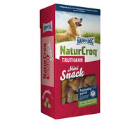 Happy Dog NaturCroq Mini Snack Truthahn, Hundesnack, 350g
