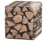 Hocker Holzstapel, Polyester