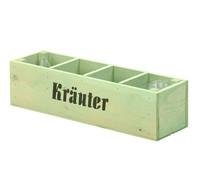 Holz-Kräuterkasten, grün