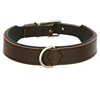 HUNTER Hundehalsband Basic, braun/schwarz