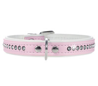 HUNTER Hundehalsband Modern Art Luxus, rosa/weiss